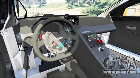 GTA 5 Aston Martin Vantage GT3 delantero derecho vista lateral