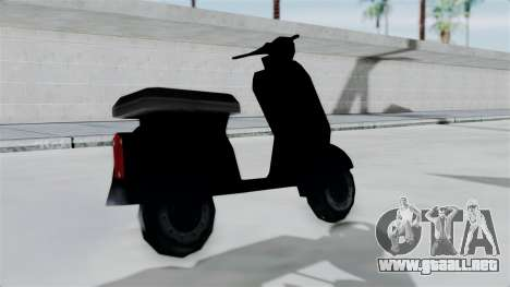 Scooter from Bully para GTA San Andreas vista posterior izquierda