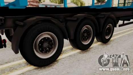 Wood Transport Trailer from ETS 2 para GTA San Andreas vista posterior izquierda