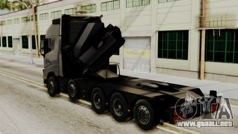Volvo FH Euro 6 10x4 Exclusive High Cab para GTA San Andreas left