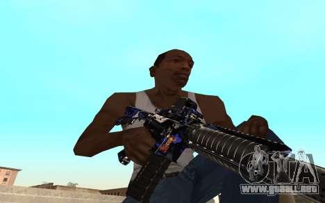 M4 c cub para GTA San Andreas segunda pantalla