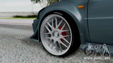 Mitsubishi Lancer Evolution Turbo para GTA San Andreas vista posterior izquierda