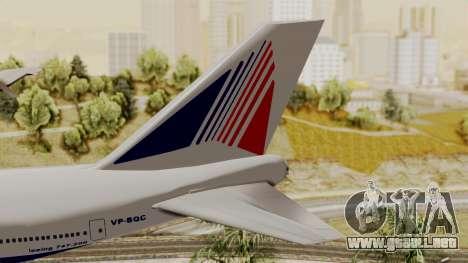 Boeing 747 TransAero para GTA San Andreas vista posterior izquierda