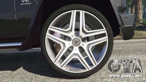 GTA 5 Mercedes-Benz G65 AMG v0.1 [Alpha] vista lateral trasera derecha