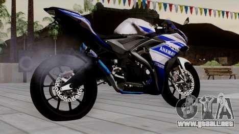 Yamaha YZF R-25 GP Edition 2014 para GTA San Andreas left