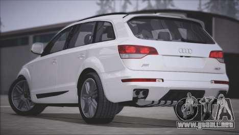 Audi Q7 2008 para GTA San Andreas vista hacia atrás