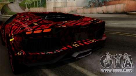 Lamborghini Aventador LP-700 Batik para GTA San Andreas interior