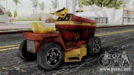 Mower from Bully para GTA San Andreas left