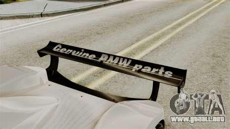 BMW V12 LMR 1999 Stock para GTA San Andreas vista hacia atrás