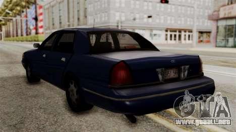 Ford Crown Victoria LP v2 Civil para GTA San Andreas left
