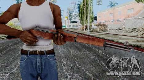 M1 Garand from Battlefield 1942 para GTA San Andreas tercera pantalla