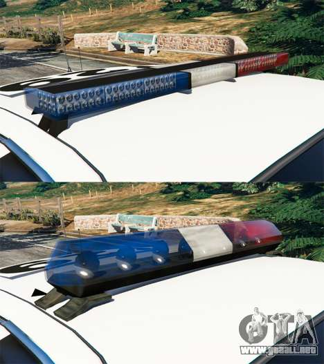 GTA 5 Ford Crown Victoria 1999 Police v0.9 delantero derecho vista lateral