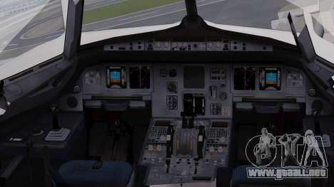Airbus A320-200 Iraqi Airways para visión interna GTA San Andreas