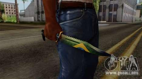 Brasileiro Knife v2 para GTA San Andreas tercera pantalla