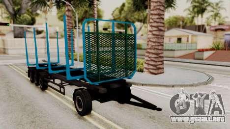 Wood Transport Trailer from ETS 2 para la visión correcta GTA San Andreas