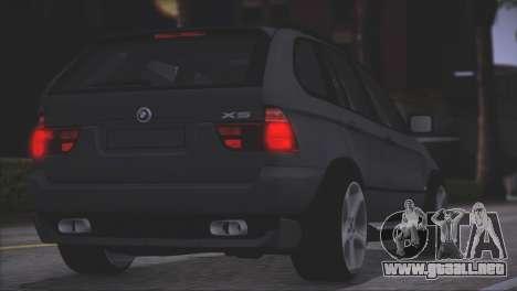 BMW X5 E53 para visión interna GTA San Andreas