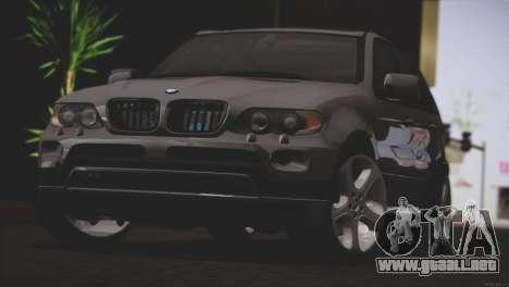 BMW X5 E53 para GTA San Andreas vista posterior izquierda