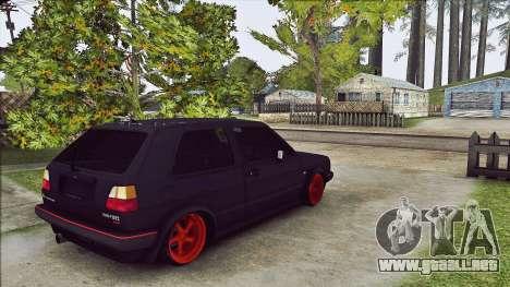 Volkswagen Golf Mk2 Line para la visión correcta GTA San Andreas