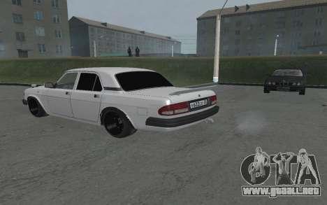 GAZ Volga 3110 para GTA San Andreas vista posterior izquierda
