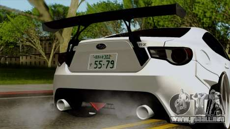 Subaru BRZ 2010 Rocket Bunny v1 para visión interna GTA San Andreas