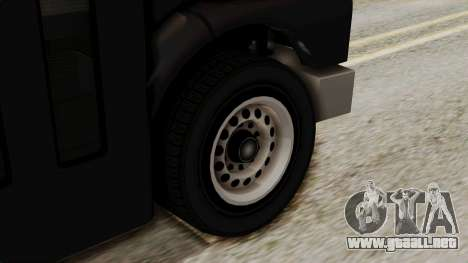 Prison Bus para GTA San Andreas vista posterior izquierda