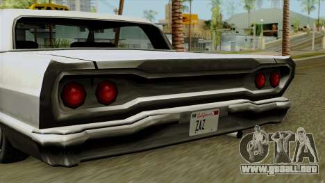 Taxi-Savanna para GTA San Andreas vista posterior izquierda