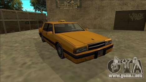 Willard Taxi para GTA San Andreas vista hacia atrás