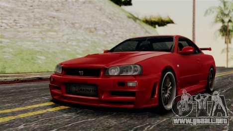 Nissan Skyline GT-R R34 2012 para GTA San Andreas