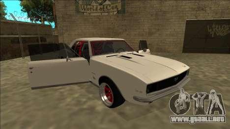 Chevrolet Camaro SS Drift para vista lateral GTA San Andreas