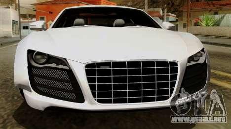 Audi R8 v1.0 Edition Liberty Walk para la vista superior GTA San Andreas
