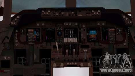 Boeing 747-100 British Overseas Airways para visión interna GTA San Andreas