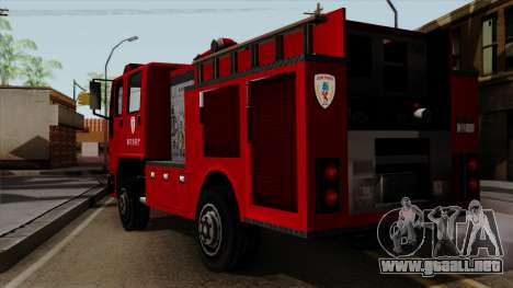 DFT-30 Tokyo Fire Department Pumper para GTA San Andreas left