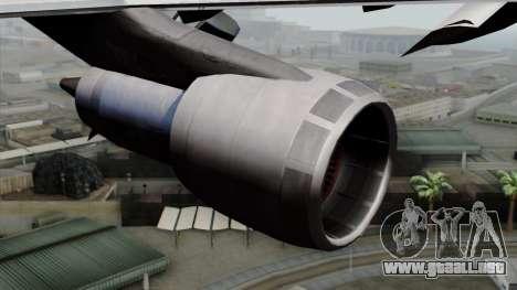 Boeing 747-200 Air France para la visión correcta GTA San Andreas