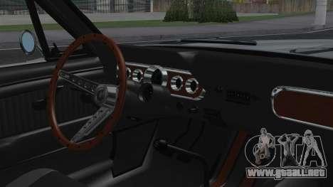 Ford Mustang Fastback 289 1966 para la visión correcta GTA San Andreas