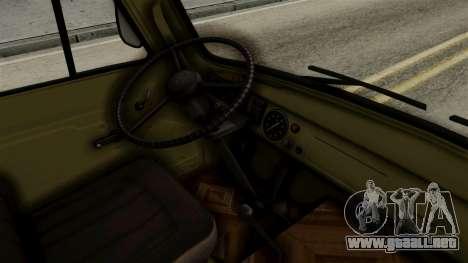 El uaz 3303 renacuajo para la visión correcta GTA San Andreas