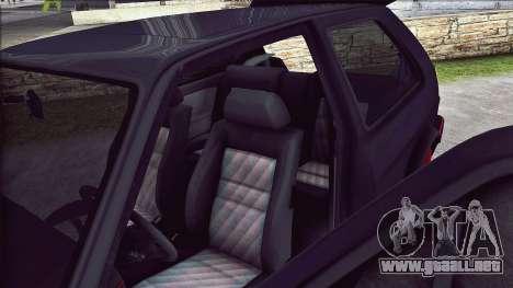 Volkswagen Golf Mk2 Line para vista lateral GTA San Andreas