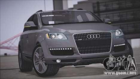 Audi Q7 2008 para visión interna GTA San Andreas