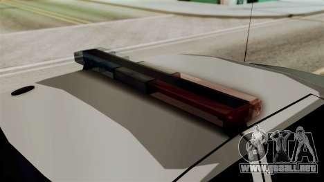 Ford Crown Victoria LP v2 Sheriff para GTA San Andreas vista posterior izquierda