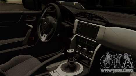 Subaru BRZ 2010 para la visión correcta GTA San Andreas
