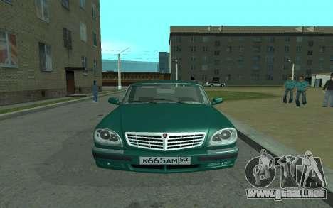 GAS de 31105 Volga para la visión correcta GTA San Andreas
