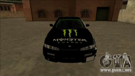 Nissan 200SX Drift Monster Energy Falken para la vista superior GTA San Andreas