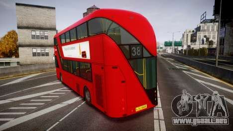 Wrightbus New Routemaster Arriva para GTA 4 Vista posterior izquierda