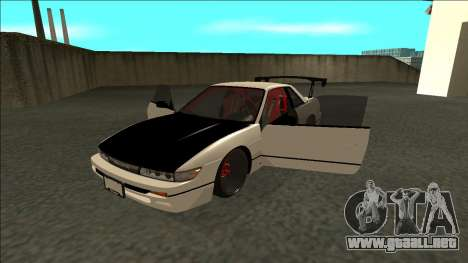 Nissan Silvia S13 Drift para GTA San Andreas vista hacia atrás