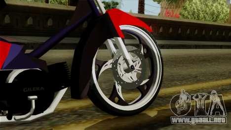Gilera Smash para GTA San Andreas vista posterior izquierda