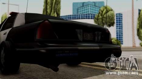 Ford Crown Victoria LP v2 LSPD para la visión correcta GTA San Andreas