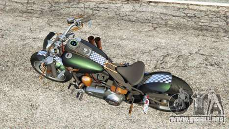 GTA 5 Harley-Davidson Fat Boy Lo Racing Bobber v1.1 vista trasera