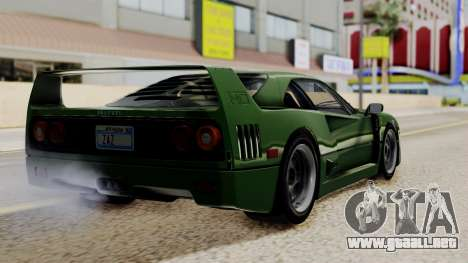 Ferrari F40 1987 with Up without Bonnet IVF para GTA San Andreas left