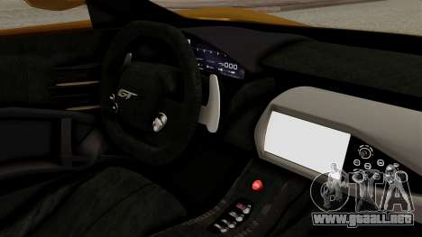 Ford GT 2016 Black Revel para GTA San Andreas vista posterior izquierda
