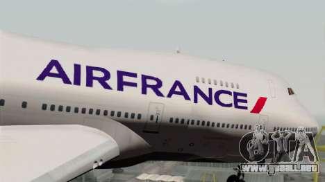 Boeing 747-200 Air France para GTA San Andreas vista hacia atrás