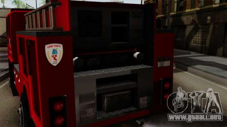 DFT-30 Tokyo Fire Department Pumper para la visión correcta GTA San Andreas
